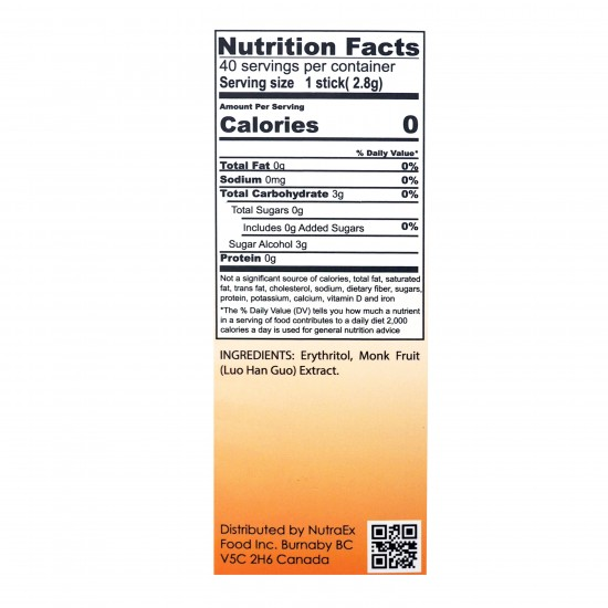SugarLike Zero Calorie Sweetener (40 Sticks)